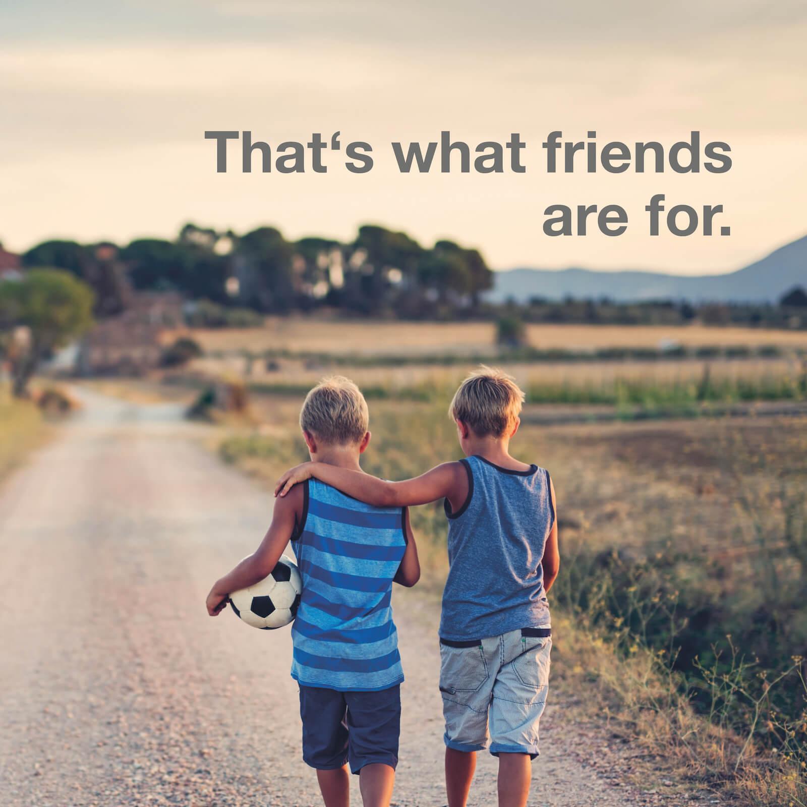 Über Freundschaft und Wertschätzung in der Kindheit. N4YK – wir haben immer das ganz große Familienglück im Blick.